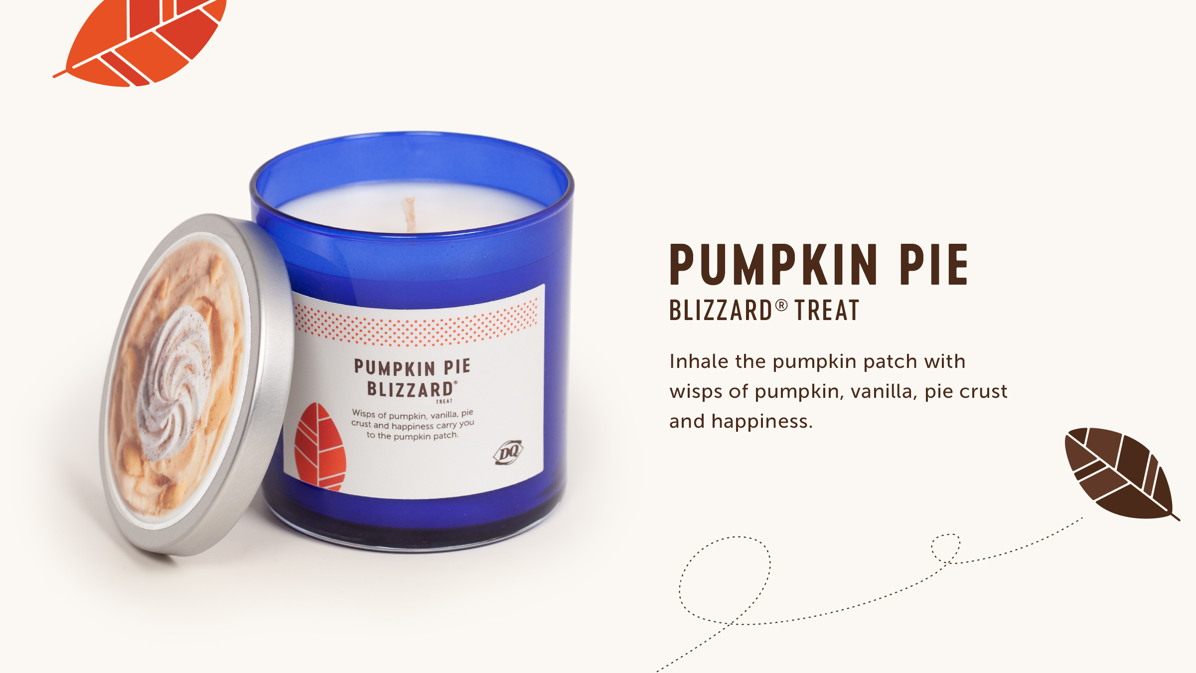 DQ: Fall Blizzard Candle Collection campaign.
